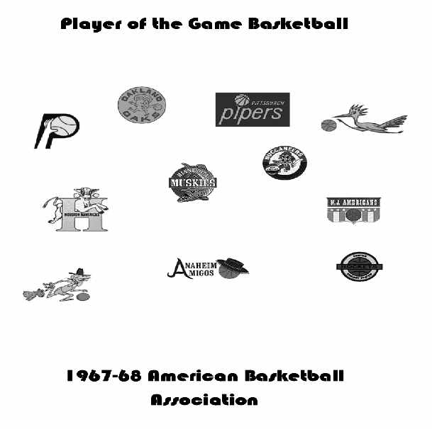 1967-68 ABA Player of the Game Yearbook