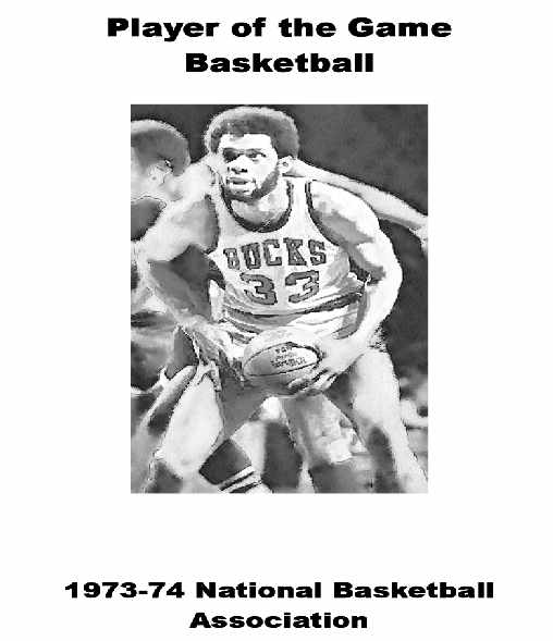 1973-74 NBA Player of the Game Yearbook
