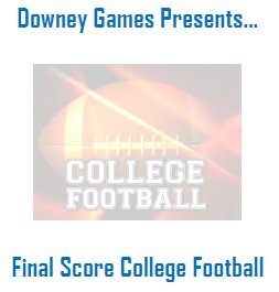 Downey's FS College Football 2019 Universe Year Book
