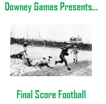 Downey's Final Score Football 2020 National E-Book