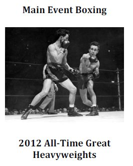 Main Event Boxing All-Time Heavyweight Set 2012 Update