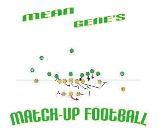 Mean Gene's Match-Up Football Game Parts