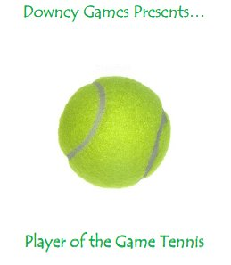Player of the Game Tennis Base Game