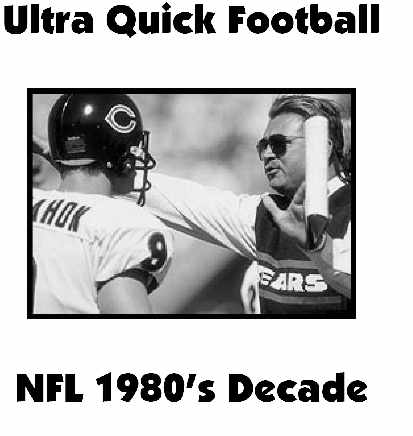 Ultra Quick Football 1980's NFL Decade