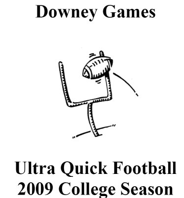 Ultra Quick College Football 2009 Complete Game