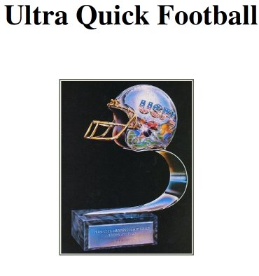 1984 USFL UQ Football Ratings