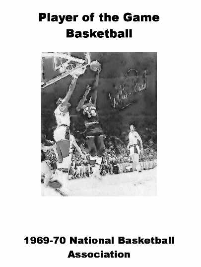 1969-70 NBA Player of the Game Yearbook